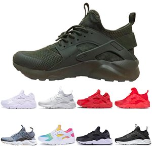 Wholesale Huarache ultra run I IV Running Shoes For Men Women White Black Pink Sneakers Trainers huraches men Sports designer Shoes discount sneaker