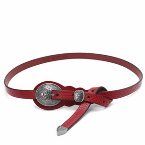 Wholesale Fashion Women s Vintage Accessories Dress Casual Thin Leisure Leather Belt New Black Red Coffee Brown