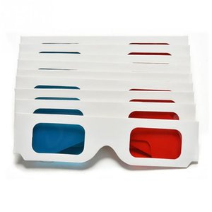 Wholesale 10pcs Universal Anaglyph Cardboard Paper Red Blue Cyan D Glasses For Movie