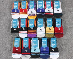 Wholesale New stance elite socks thick towel bottom stripe sports socks mens professional tube basketball training socks