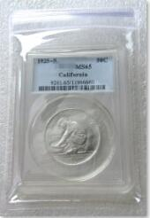 Wholesale half dollar coin for sale - Group buy US Coin S MS65 California Jubilee Half Dollar Silver Coins Currency Senior Transparent Box