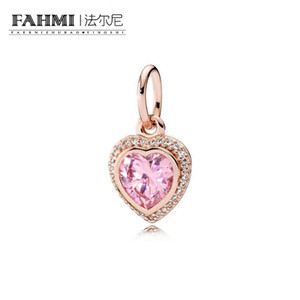 FAHMI 100% 925 Sterling Silver 1:1 Original 380366PCZ Authentic Temperament Fashion Glamour Retro Pendant Wedding Women Jewelry