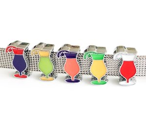 Wholesale 10PCs Mixed Color mm Enamel Drinking Cup Slide Charms Fit mm Pet Dog Collar Belts Straps Bracelets Tags