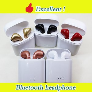 Wholesale Bluetooth Headphones I7S i8x i9s TWS Twins Earbuds Wireless Earphones Headset with Mic Stereo V5 for iphone Android PK AirPods i10