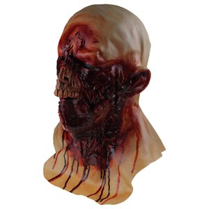 Scary Halloween Latex Bloody Zombie Melting Mask Cosplay Costume Full Overhead Latex Props