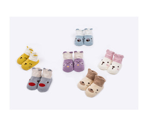 Wholesale 2018 new Korean version of shallow mouth low children socks baby babies baby floor socks solid color boat socks