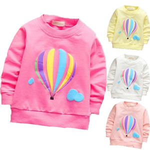 New fashion children cartoon long sleeved T-shirt all-match Korean hot air balloon fashion jacket direct foreign trade drop shipping