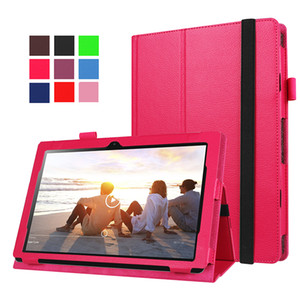 Tri-folding Stand Cover for Lenovo Miix 310-10ICR MIIX310 10.1inch Tablet Litchi Leather(can put keyboard)+Stylus