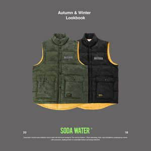 SODA WATER 2018 Men's Clothing Winter Vest Jackets Black Camouflage Vest Coat Warm Printed Cotton Camo Thicken Waistcoat 8992WS on Sale