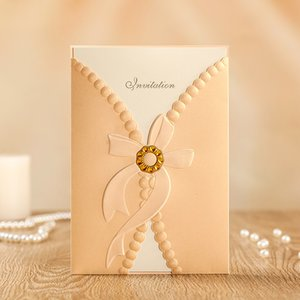 Wholesale 2018 Romantic Laser Cut Wedding Invitations Cards for Bridal Shower Marriage Engagement Cards Customizable CW8107