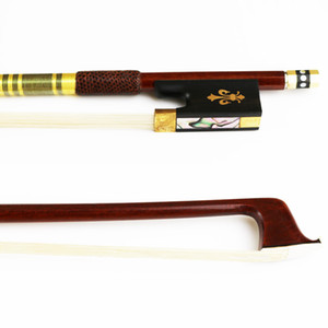 Free Shipping NEW 4 4 Advanced Pernambuco Violin Bow Natural Horsehair Round Stick Violin Parts Accessories