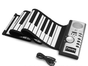 Wholesale Portable Keys Universal Flexible Roll Up Electronic Piano Soft Keyboard Piano MIDI Build in Speaker Electronic Piano