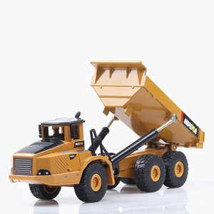 Wholesale 1 alloy articulated dump truck model toys high imitation alloy engineering vehicle model metal diecasting