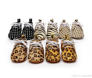 Wholesale New Colors Camouflage Dot Leopard shoes Baby Moccasins Soft bottom Shoes Genuine Leather toddler Baby First Walkers C1026
