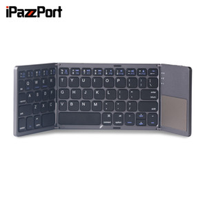 Wholesale iPazzPort BT Ultra slim Wireless Bluetooth KeyboardKeyboard Folding Pocket Keyboard with Touchpad Keys for Android Win
