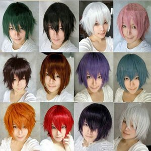 Wholesale gt gt gt Unisex Cosplay Wig Silky Short Bob Hair Wig Much choice