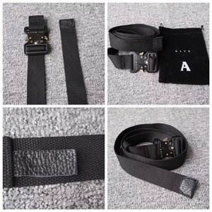 Wholesale ALYX Belt 128cm Rollercoaster Metal button canvas Hip hop street wear safety belt