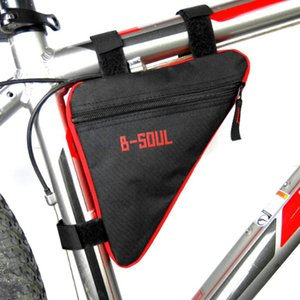 Wholesale B SOUL Waterproof e Cycling Bicycle Bags Front Tube Frame Bag Bike Holder Saddle Pouch Handlebar Bike Accessories Hot