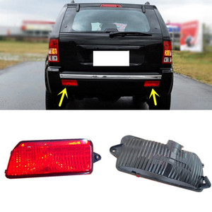 Wholesale 2pcs lot For Jeep Grand Cherokee 2006-2010 Car Red Lens Rear Bumper Reflector Rear Fog Brake Warn Light Cover