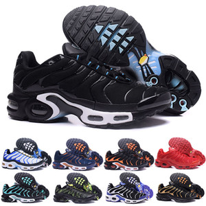 Wholesale 2018 NEW TN Plus Mens Designer Running Shoes Silver Triple s Black White Men Sports Sneakers Hyper Violet Blue size 7-12