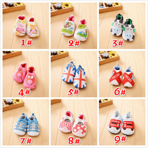 Wholesale walking shoes babies for sale - Group buy New Design Cartoon Animal Pattern Printing Comfortable Cotton Non slip Baby Walk Breathable Shoes Cute Toddler Shoes Sizes a Set
