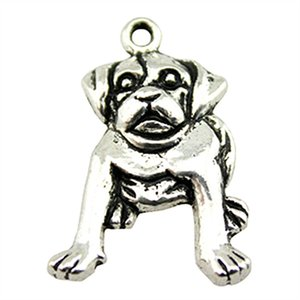 Wholesale 5pcs Dog Pendant Antique Silver Dog Charms Antique Silver Charms Jewelry Making Accessories x26mm
