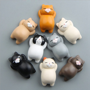 Fridge Magnets Cute Cat Magnetic Buckle Animal Refrigerator Magnets Action Sticker Home Decor Xmas Gifts Free Shipping 8 Styles YW1549