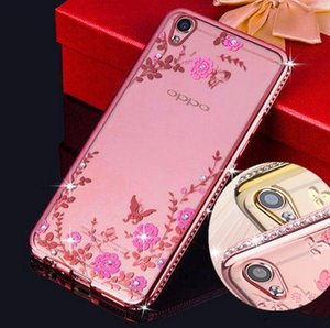 For iPhone 4 5 6 7 8 Plus X XS MAX XR iPad Mini 3 4 Protective Flowers Diamond Rhinestone Electroplate cover Transparent Soft TPU Case