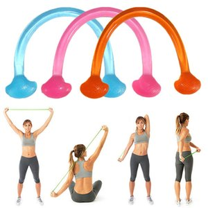 Wholesale Multifunctional portable silicone elastic pull rope jelly Fitness Yoga auxiliary Chest Expander Stretch Belt Resistance bands
