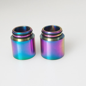 Wholesale stainless steel drip tip 510 for sale - Group buy Stainless Steel SS Rainbow Color Drip Tips for Thread Wide Bore Mouthpiece TFV8 TFV12 Prince Tank TFV8 BABY Atomizer