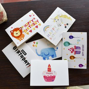 Wholesale Greeting Cards with Envelope Happy Birthday Thank You Favor Gift Card for Baby Shower Kids Children Birthday Party