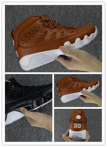 Wholesale New High Quality Knitted Mens Basketball shoes s Black Brown fashion sneaker Genuine Leather Trainer Size