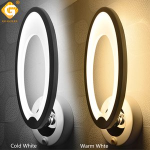 Wholesale LED Wall Lamps Sconce With Switch Bedroom Home Modern Bathroom Indoor Lighting acrylic Sconces luminaire Deco Stairs Wall bedside Lights