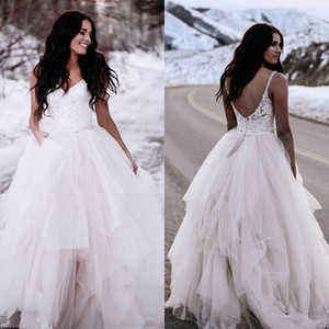 Winter Ball Gown Wedding Dresses Gothic Plus Size Cheap Country Straps Top Lace Wedding Dresses Bridal Gowns Floor Length Tulle Princess