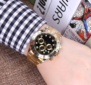 Wholesale 2018 QUALITY diamond daydate designer watches new luxury fashion brand product in men and women date new steel clock quartz watches for men