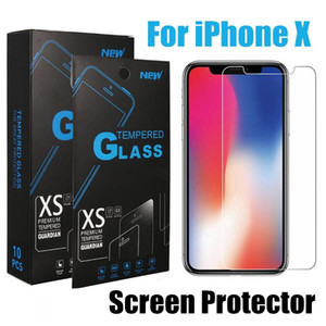 Wholesale For iPhone XS Max XR Tempered Glass iPhone X Plus Screen Protector Samsung J3 Prime J7 Refine Note With Package