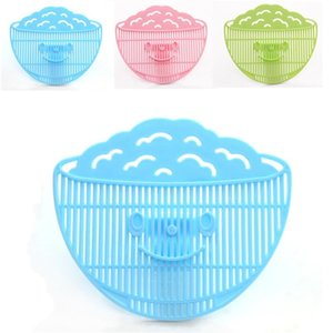 Wholesale Can Clip Type Drainer Fruits Smile Face Plastic Rice Sieves Filter Multi Color Kitchen Gadget jm C