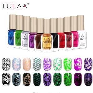 Lulaa 6ML Stamp Polish Nail Polish & Stamp Polish Nail Art 12 Color Optional Stamping Nail Lacquer Spray Vernis A Ongle Varnish