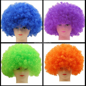 Wholesale 50pcs Stage Joker Adult Child Costume Hair Wigs Clown Fans Carnival Wig Cosplay Circus Funny Fancy Dress Festive Prop Free Ship