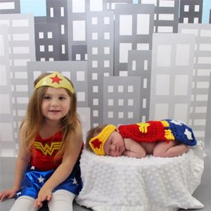 Wholesale Newborn Baby Girl Boy Crochet Knit Costume Photo Photography Prop Hats Pants Outfits