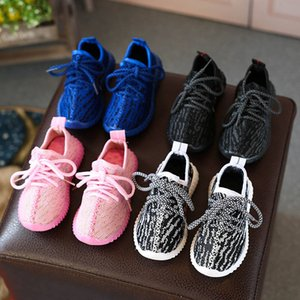 Wholesale HOT Baby Kids Kanye-West Children Athletic Shoes Boys Running Shoes Girls Casual Shoes Baby Training Sneakers Size 21-35