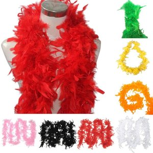 Wholesale New Popular Fancy Dress Feather Boa Burlesque Showgirl Hen Night Festival Ornamental Scarf Neckerchief Decoration For Clothes