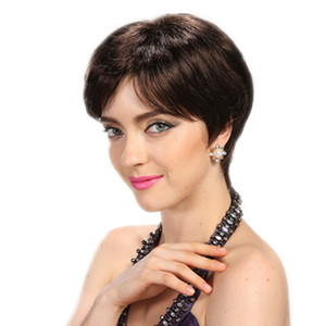 Wholesale short pixie hairstyles resale online - None Lace pixie short cut hair wigs Brazilian hair wigs Rihanna hairstyles Cheap human best hair lace front full lace wigs for black women