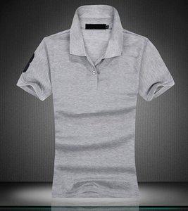 New 2021 women Big Horse embroibery Brand Polo Shirt Polos Men Short Sleeve causal shirt classical style