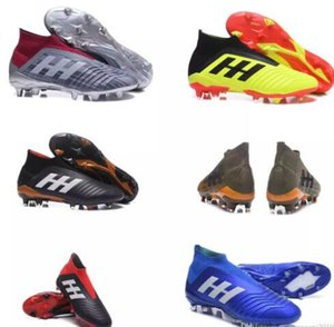 Wholesale New Cheap V SX Neymar Soccer Shoes Predator 18+x Pogba FG Accelerator DB Kids Men Mercurial Superfly FG football Cleats Real Madrid