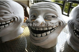 Wholesale New Year Surprise Latex Troll Face Mask for Fancy Dress Halloween Dress Up