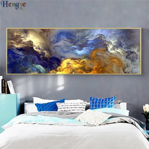 Wholesale ZYXIAO landscape abstract cloud Oil painting on Canvas Professional Art Poster No Frame Wall Picture for Living Room Sofa Home Decor ys0025