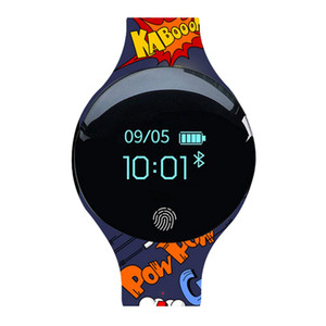 Wholesale Support Android IOS8 And Above System Children s Cartoon Silicone Smart Watch Strap Casual Fashion Print Children Only Strap