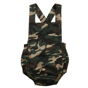 Wholesale Camouflage Newborn Baby Romper Clothes New Summer Sleeveless Infant Bebes Boys Girls Fashion Toddler Kids Jumpsuit Sunsuit