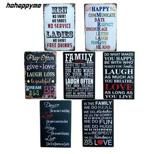 Wholesale English poetry Romantic Sign CM Vintage Tin Signs Home Decoration Bar English Poetry Metal Craft Gifts Poster Iron Painting